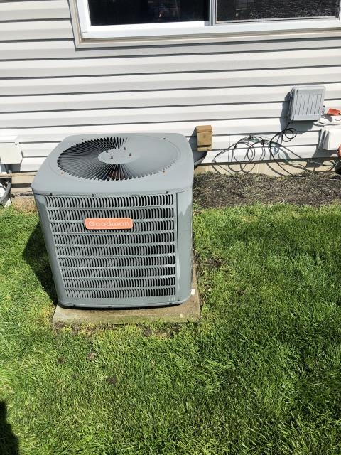 Dublin, OH - Following COVID-19 Protocol, wearing mask and gloves and keeping activity in the home to a minimum, I Performed A/C tune-up on a 2001 Goodman Air Conditioner . System is now running a peak performance.