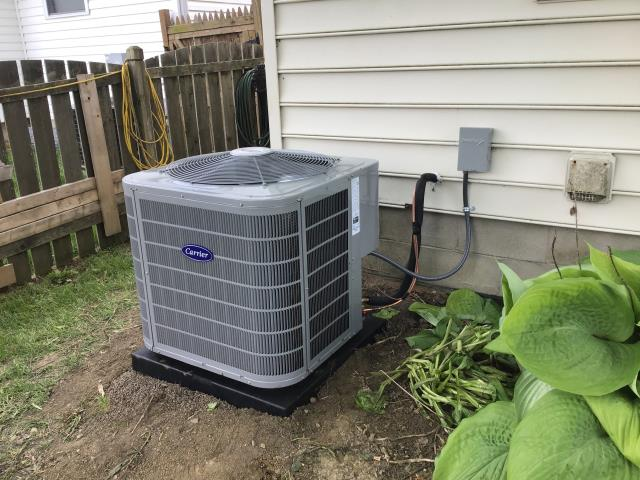 Hilliard, OH - Following COVID-19 Protocol, wearing mask and gloves and keeping activity in the home to a minimum, I Performed A/C tune-up on a 2019 Carrier Air Conditioner . System is now running a peak performance.