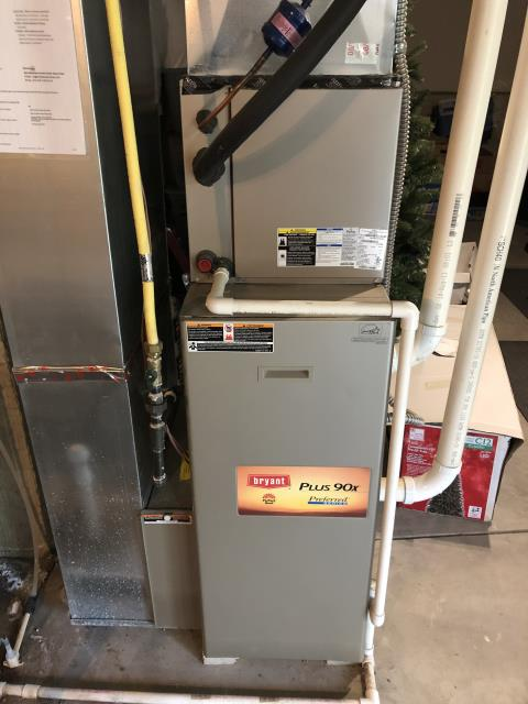 Blacklick, OH - Replacing inducer motor in Bryant furnace.