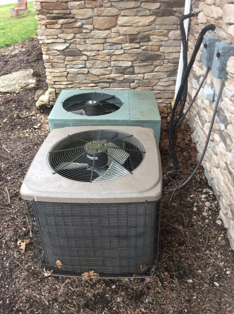 Pataskala, OH - Seasonal maintenance on 2010 Luxaire AC. The system is running properly and is in good condition
