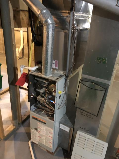 Groveport, OH - Provided estimate to install Carrier 96% gas furnace and Five Star 13 SEER 2.5 AC to replace Carrier AC and Bryant furnace. Pictured below is the Bryant furnace.