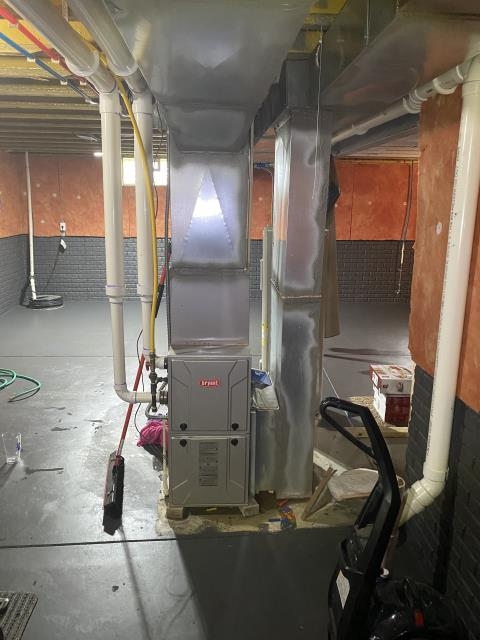Pataskala, OH - The customer stated there is a lot of water coming from top of furnace. I replaced the Safe T Switch Condensate PVC 90 Overflow on a 2014 Bryant