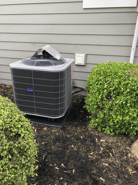 Groveport, OH - I  found condensation line plugged partially and secondary holes wide open. I added a float switch, plugged third hole, and cleared condensation line
