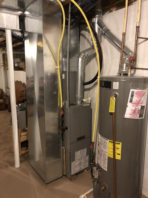 """Pataskala, OH - I installed a new Five Star 96% 60,000 BTU Gas Furnace 3T 14"""" & Five Star 13 SEER 2.5 Ton Air Conditioner"""