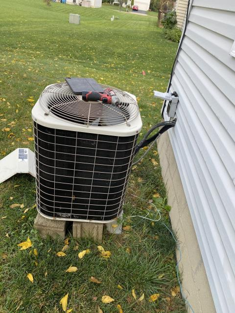 Reynoldsburg, OH - on arrival customer stated ac is tripping breaker and will not allow it to stay on. I found compressor shorted to ground.