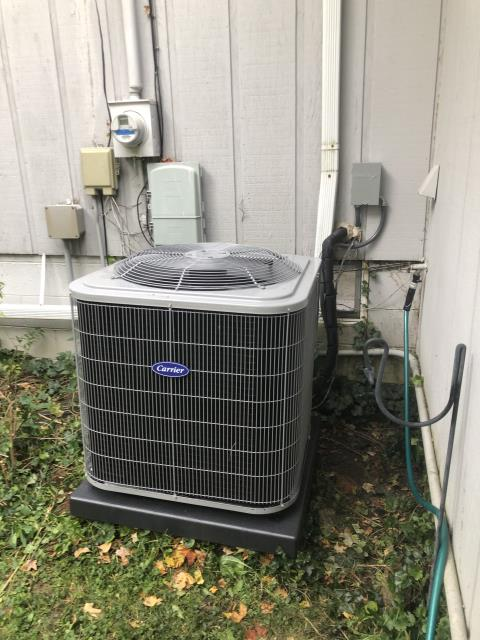 Pataskala, OH - I installed a new Carrier 96% Two-Stage 60,000 BTU Gas Furnace. Carrier 16 SEER 2.5 Ton Air Conditioner,