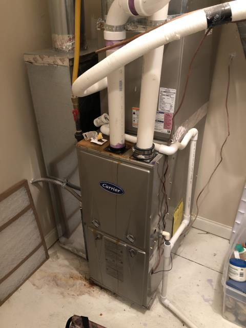 """Westerville, OH - Found furnace with a blown fuse. Homeowner informed me she has tried to replace the fuse twice before she made the call and she recently replaced the thermostat . I Checked thermostat to find the """"C"""" was not in its proper location on the thermostat terminal strip. Moved common to the proper """"C"""" terminal"""