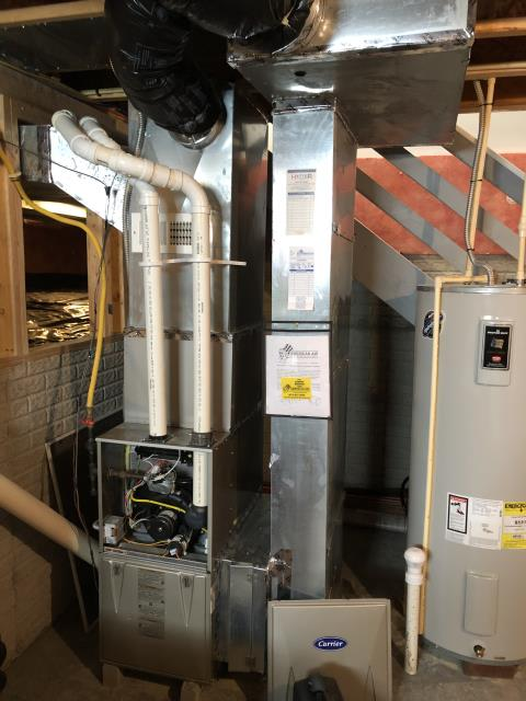 Westerville, OH - I am Performing our Five Star Tune-Up & Safety Check on a 2012 Carrier Gas Furnace. All readings were within manufacturer's specifications, unit operating properly at this time.