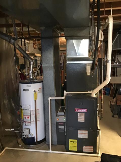 Groveport, OH - I am Performing our Five Star Tune-Up & Safety Check on a 2009 Goodman  Gas Furnace. All readings were within manufacturer's specifications, unit operating properly at this time.