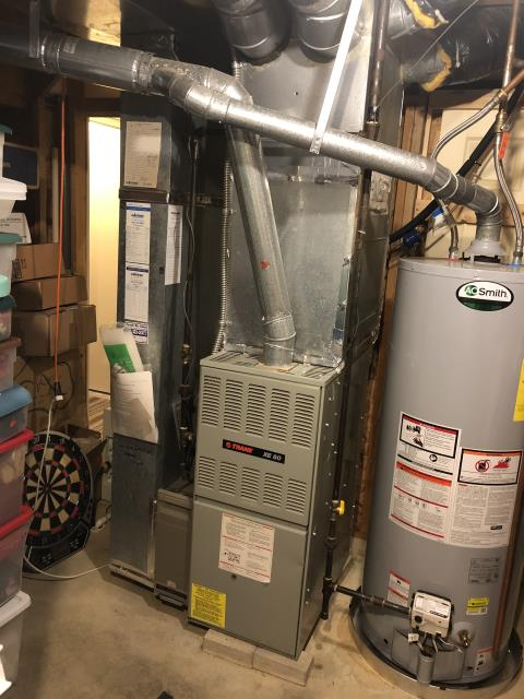 Pickerington, OH - 	I am Performing our Five Star Tune-Up & Safety Check on a 1994 Trane  Gas Furnace. All readings were within manufacturer's specifications, unit operating properly at this time.