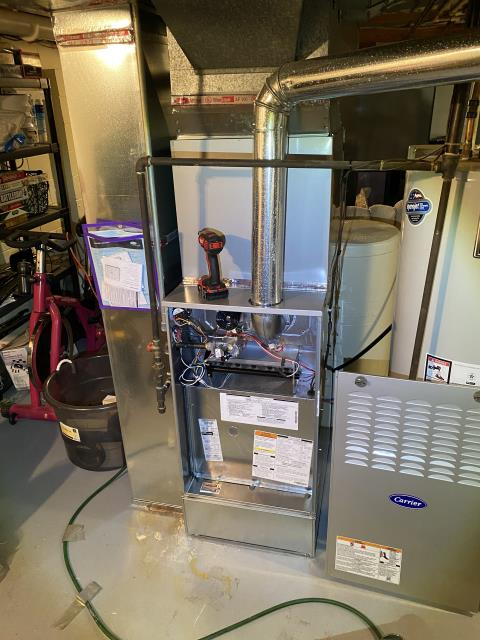 Pickerington, OH - 	I am Performing our Five Star Tune-Up & Safety Check on a 2019 Carrier  Gas Furnace. All readings were within manufacturer's specifications, unit operating properly at this time.