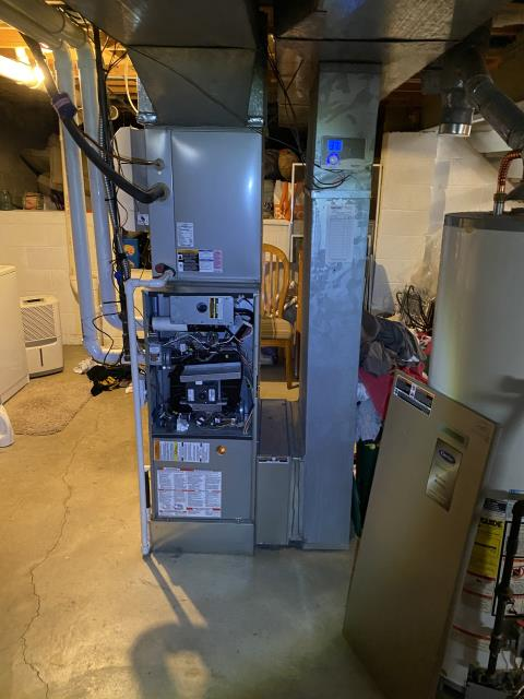Worthington, OH - customer stated furnace making loud noises. The inducer bearings going bad, inducer is on its way to failure . I did confirm system is under parts warranty until feb 2021