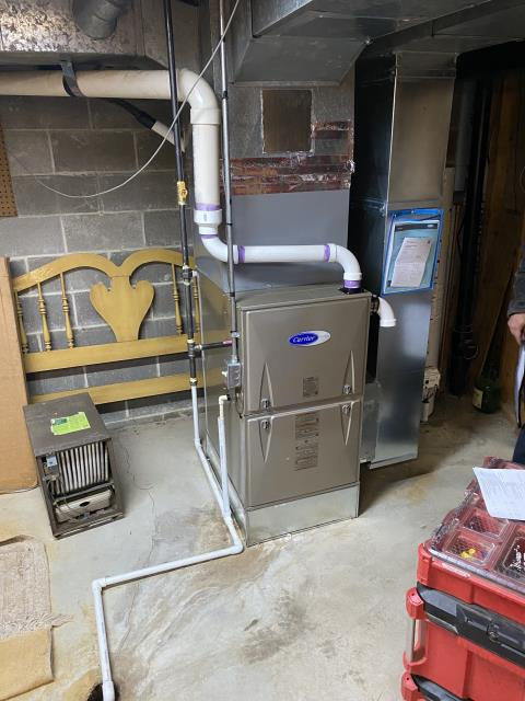 Dublin, OH - I installed a new  Five Star 96% 2 Stage Variable Speed 80,000 BTU Gas Furnace