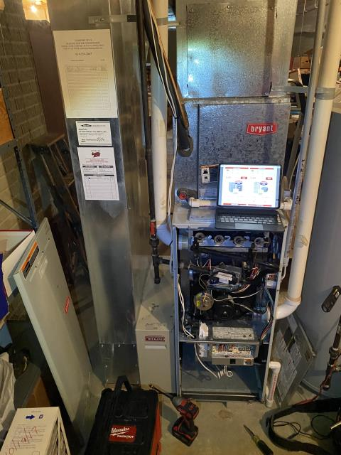 Galena, OH - I found a the whole burner area was burned black due to improper combustion. I performed a combustion analysis and found over 4,000 ppm of CO in the flue. I told customer furnace needed to remain shut off until this system was repaired or replaced. Customer decided to replace furnace.