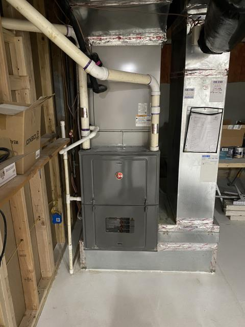 New Albany, OH - I found the issue to be that the hole made for combustion was not covered. I was able to cover it. System is operational upon departure.