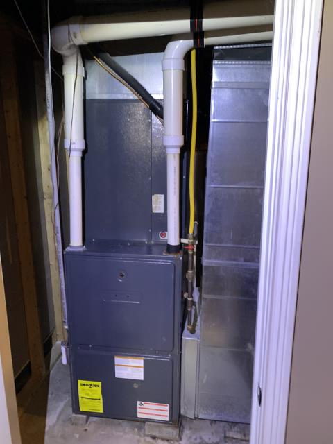 Lewis Center, OH - I found multiple issues in this unit, with the heat exchanger, blower motor, inducer motor, ignitor, and exhaust piping. I went over repair and replace options with the customer and the customer has opted to replace the furnace.