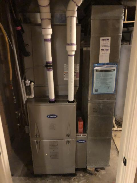 Lewis Center, OH - I installed a Carrier 96% 100,000 BTU Gas Furnace and a Carrier 16 SEER 5 Ton Air Conditioner. I cycled system multiple times to ensure functionality. System is operational upon departure.