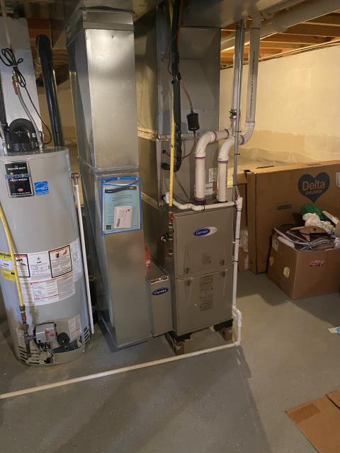 Blacklick, OH - I installed a Carrier 96% Two-Stage 60,000 BTU Gas Furnace. Cycled system to ensure functionality. System is operational upon departure.