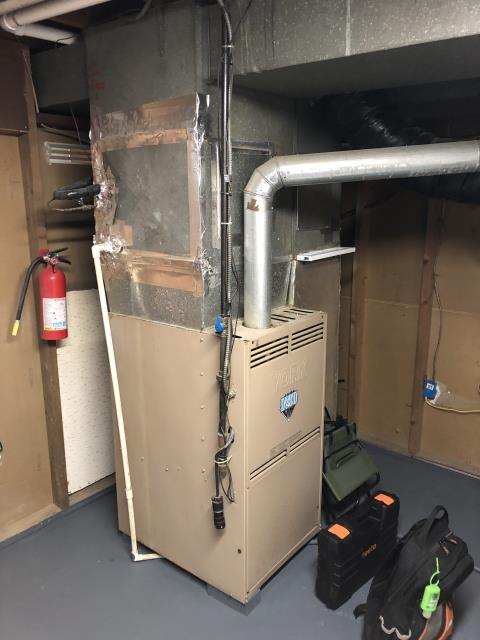 Reynoldsburg, OH - I went over options with the customer for expanding the ductwork in their home to allow for better heating and cooling options. System is operational upon departure.