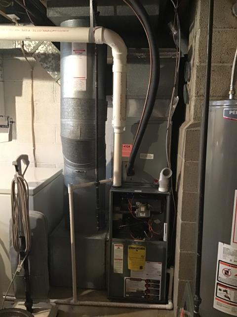 Columbus, OH - Upon arrival, I found I was unable to replace the blower motor due to the condensate trap being glued in place and was in the way. I informed the customer we would have to uninstall the condensate trap and install a new one along with the new blower motor. Customer understands. System is not operational upon departure.