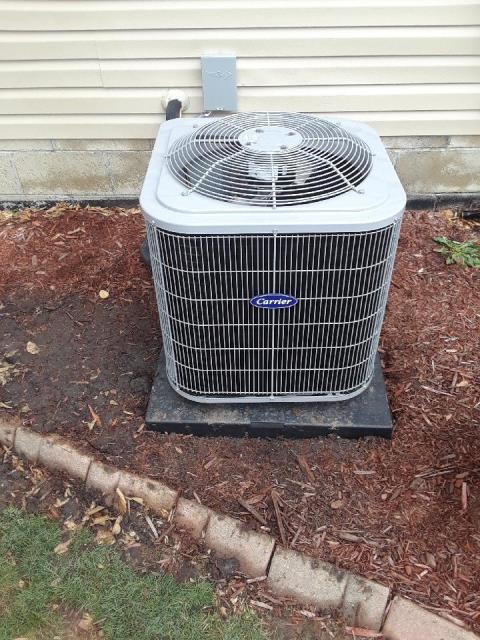 Galena, OH - I installed a Carrier 96% 60,000 BTU Gas Furnace and a Carrier 13 SEER 2.5 Ton Air Conditioner.
