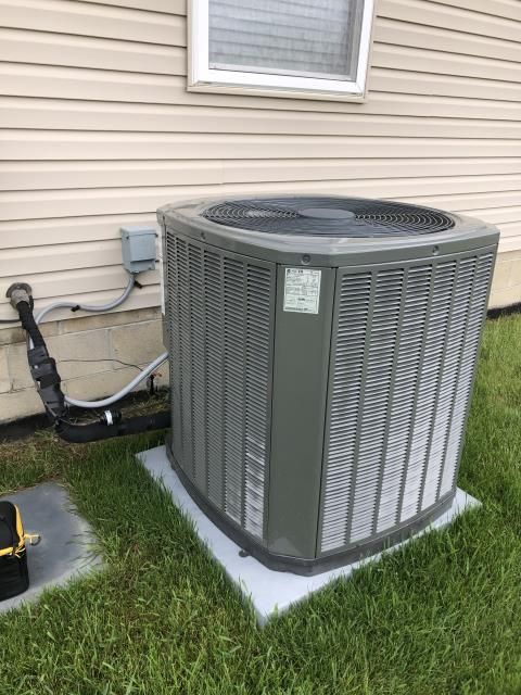 Pickerington, OH - Scheduled maintenance cooling tune up on a Trane air conditioner completed.  I visually inspected the furnace.  Checked voltage and amps. I inspected the evaporator coil.  I checked the temperature difference across the coil.   Checked refrigerant charge, voltages and amps.  I rinsed the condenser coils with water.  Cycled and monitored the system.  Operating normally at this time.