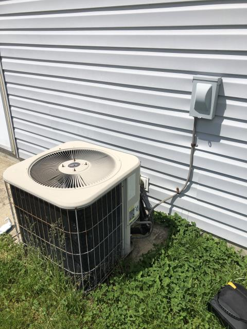 Canal Winchester, OH - I completed the spring tune up on a Lennox air conditioner.  I visually inspected the furnace.  Checked voltage and amps. I inspected the evaporator coil.  I checked the temperature difference across the coil.   Checked refrigerant charge, voltages and amps.  I rinsed the condenser coils with water.  Cycled and monitored the system.  Operating normally at this time.