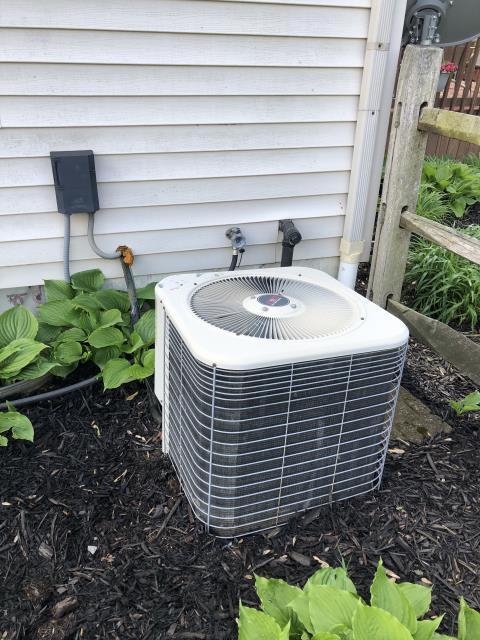Pataskala, OH - I completed the spring tune up on a Lennox air conditioner.  I visually inspected the furnace.  Checked voltage and amps. I inspected the evaporator coil.  I checked the temperature difference across the coil.   Checked refrigerant charge, voltages and amps.  I rinsed the condenser coils with water.  Cycled and monitored the system.  Operating normally at this time. Recommended due to age that it may be best to replace. Customer weighing options.