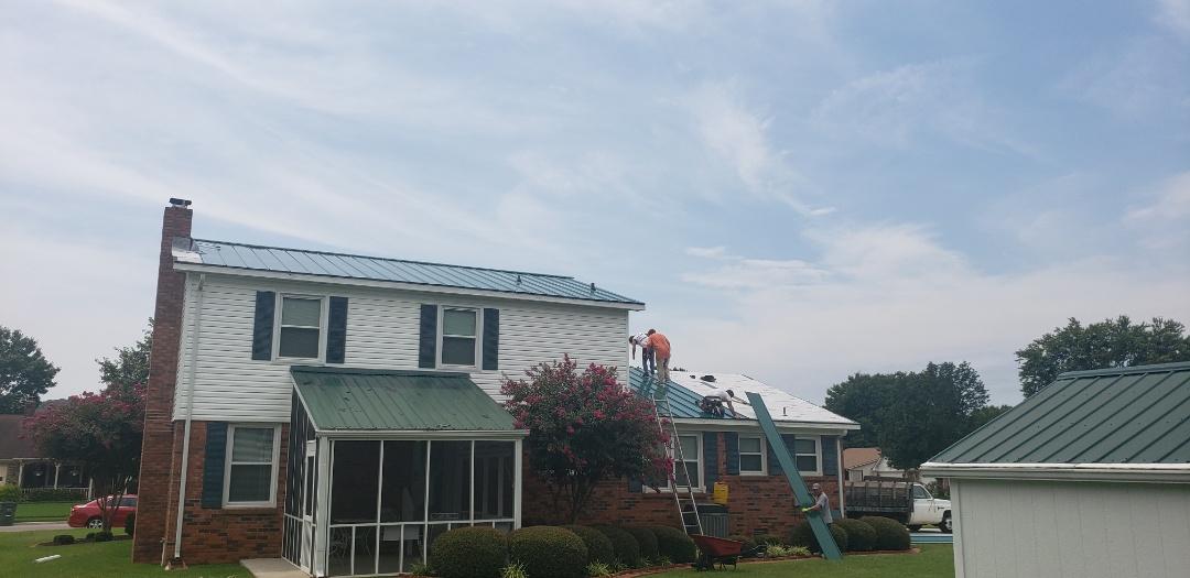 Huntsville, AL - Standing seam metal roof installation going well.