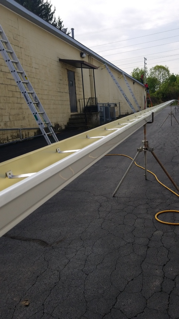Syracuse, NY - 140 foot long seamless 6 inch gutter. In Syracuse