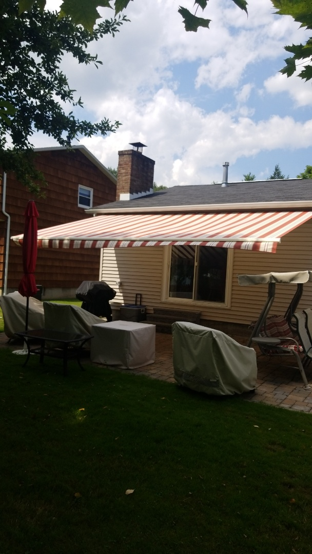 Manlius, NY - Awning install Expanding outdoor living space