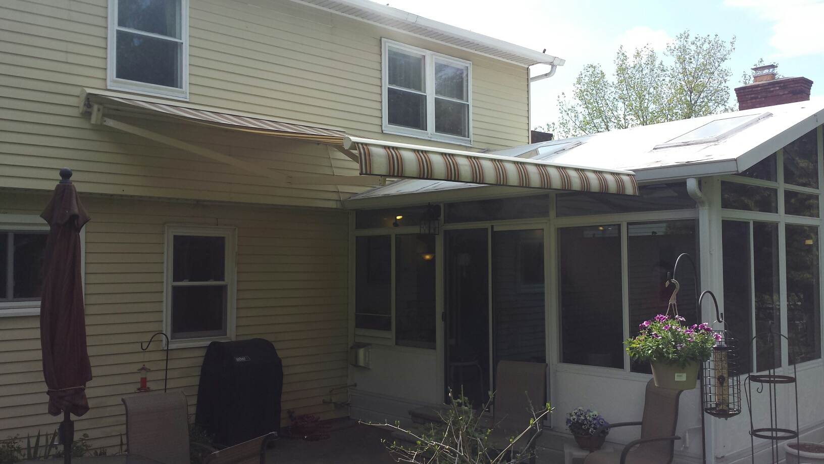Manlius, NY - Another happy customer with his new awning