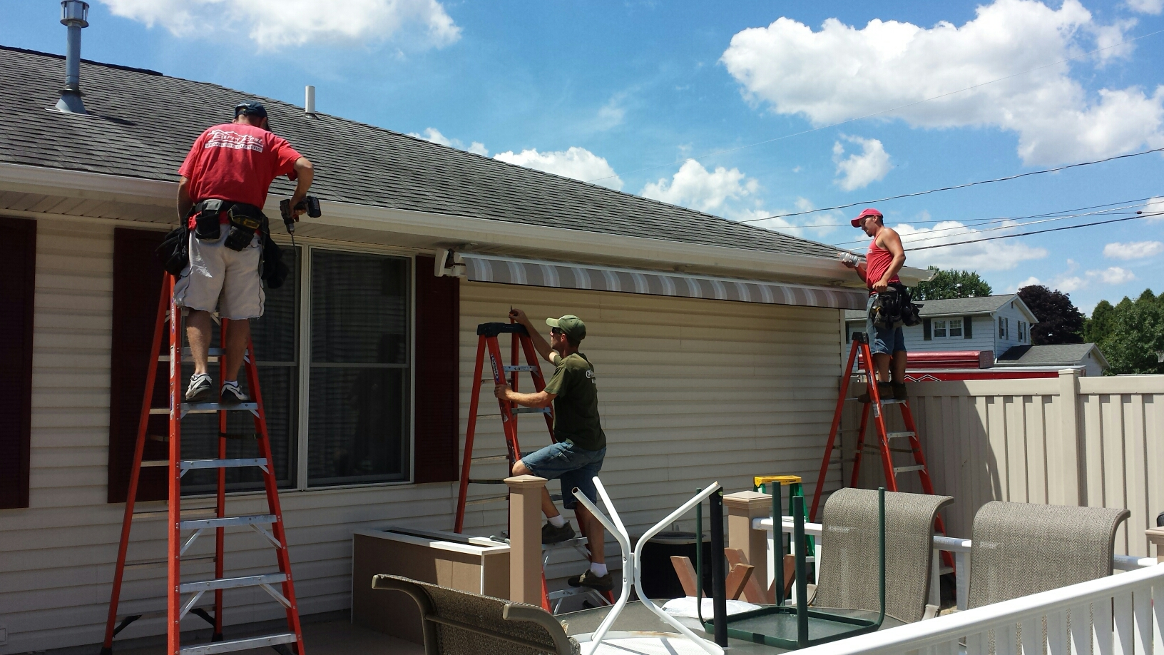 Syracuse, NY - Whole house gutters and new awning