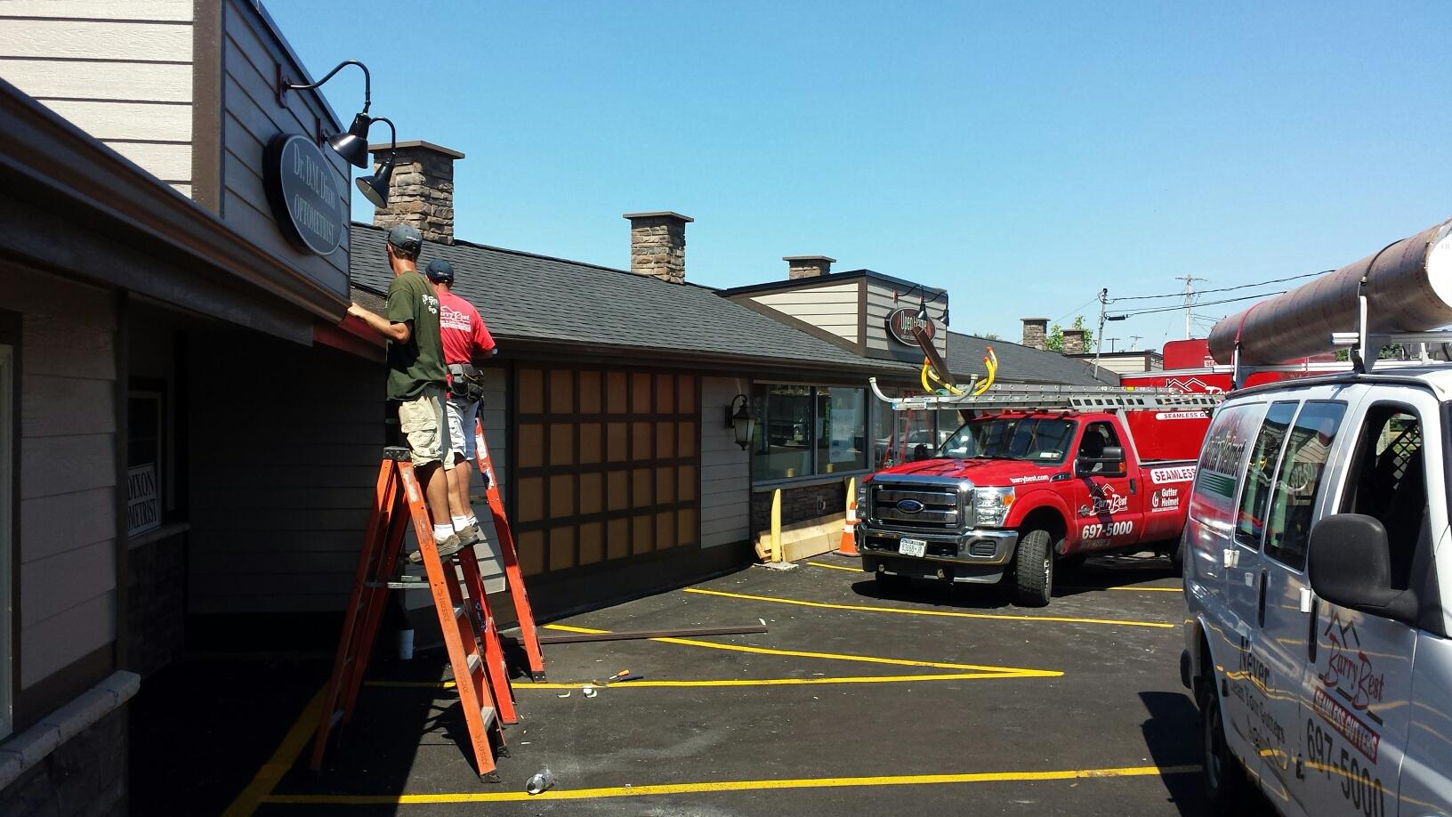 Manlius, NY - Seamless rain gutter install