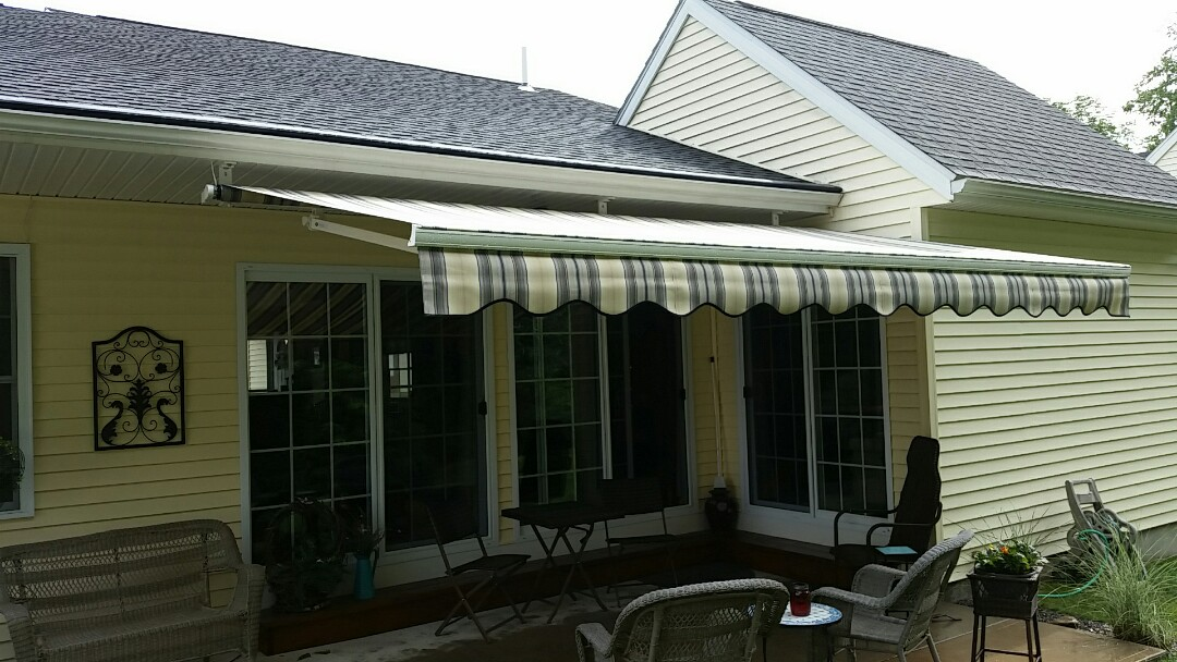 Rome, NY - Awning ,gutters and helmet