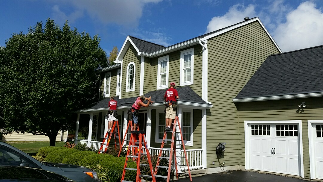 Cazenovia, NY - New gutters with gutter helmet
