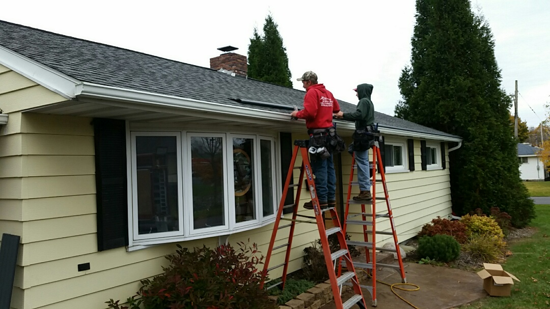Syracuse, NY - New gutters with gutter helmet