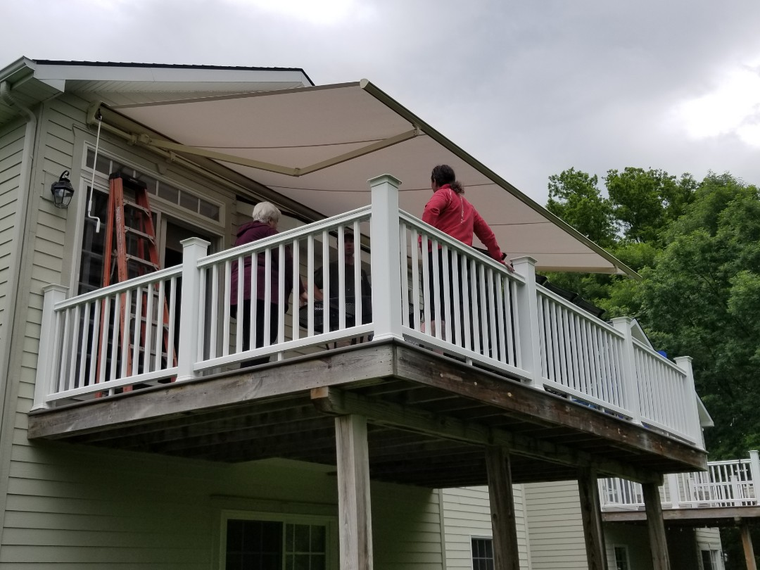 Fayetteville, NY - Expanding outdoor living space with retractable awnings