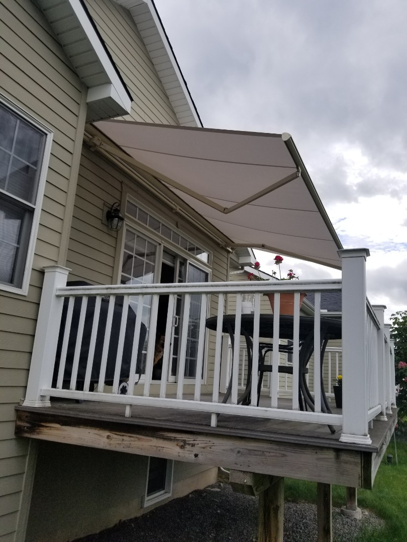 Fayetteville, NY - awnings are selling fast this spring