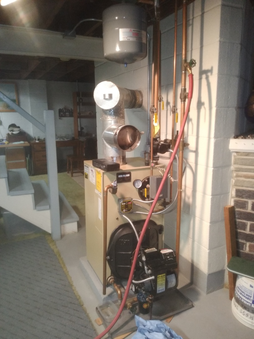 Bensalem, PA - Performed precision oil tune up and replaced releif Valve on a Weil mclain gold in Bensalem pa