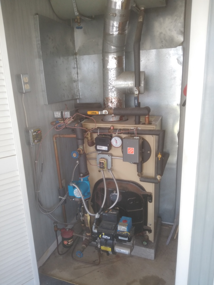Levittown, PA - Replaced zone valve head and mixing valve guts on a weil McLean gold in the Mill Creek section of Levittown PA