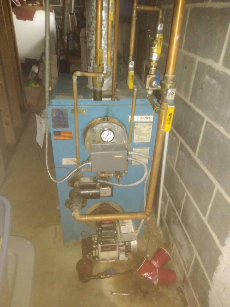 Levittown, PA - Installed new what are feeder backflow preventer and relief valve and tridiater on a Utica boiler in Bensalem PA