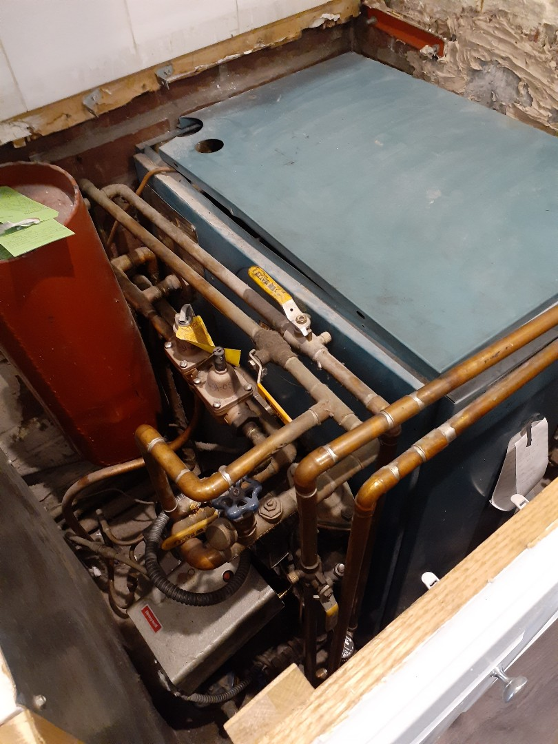 Levittown, PA - Performed Precision oil tune up on Burnham rofo oil boiler in Levittown PA