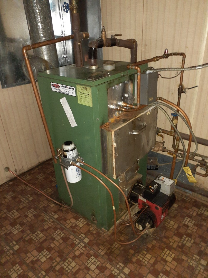 Levittown, PA - Performed a Precision oil tune up on a New Yorker boiler in yellowood section of Levittown PA