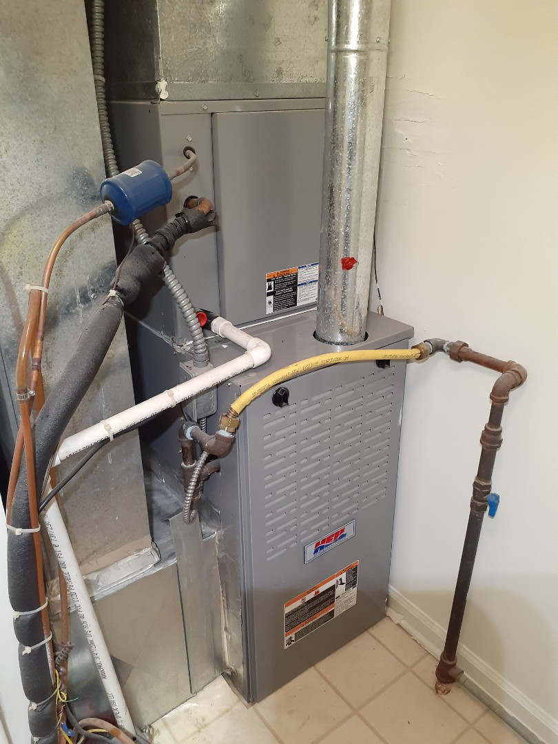Yardley, PA - Performed precision gas tune up on a hail warm air furnace in Yardley pa