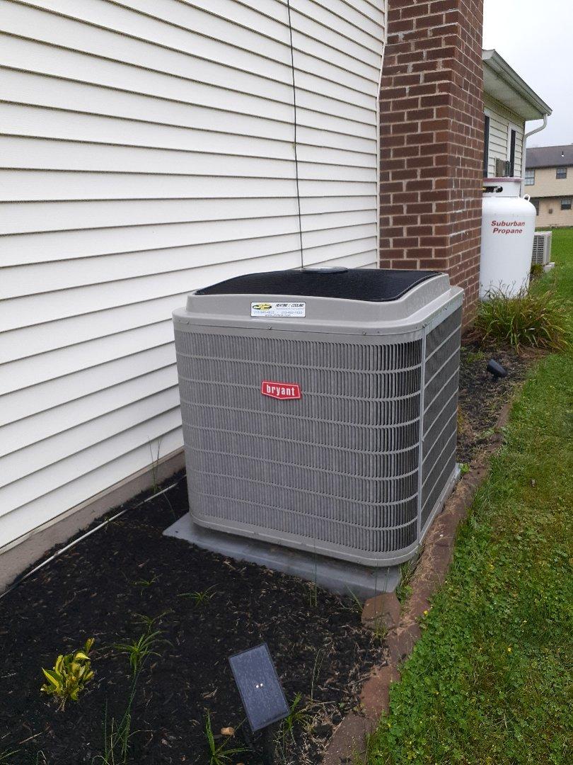 Yardley, PA - Performed heat pump tune up Yardley PA on a Bryant heat pump system
