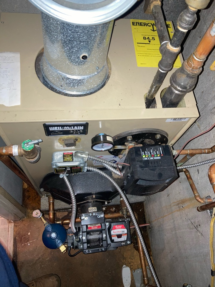 Morrisville, PA - Replaced Honeywell zone valve on a Well McLean gold in Yardley PA