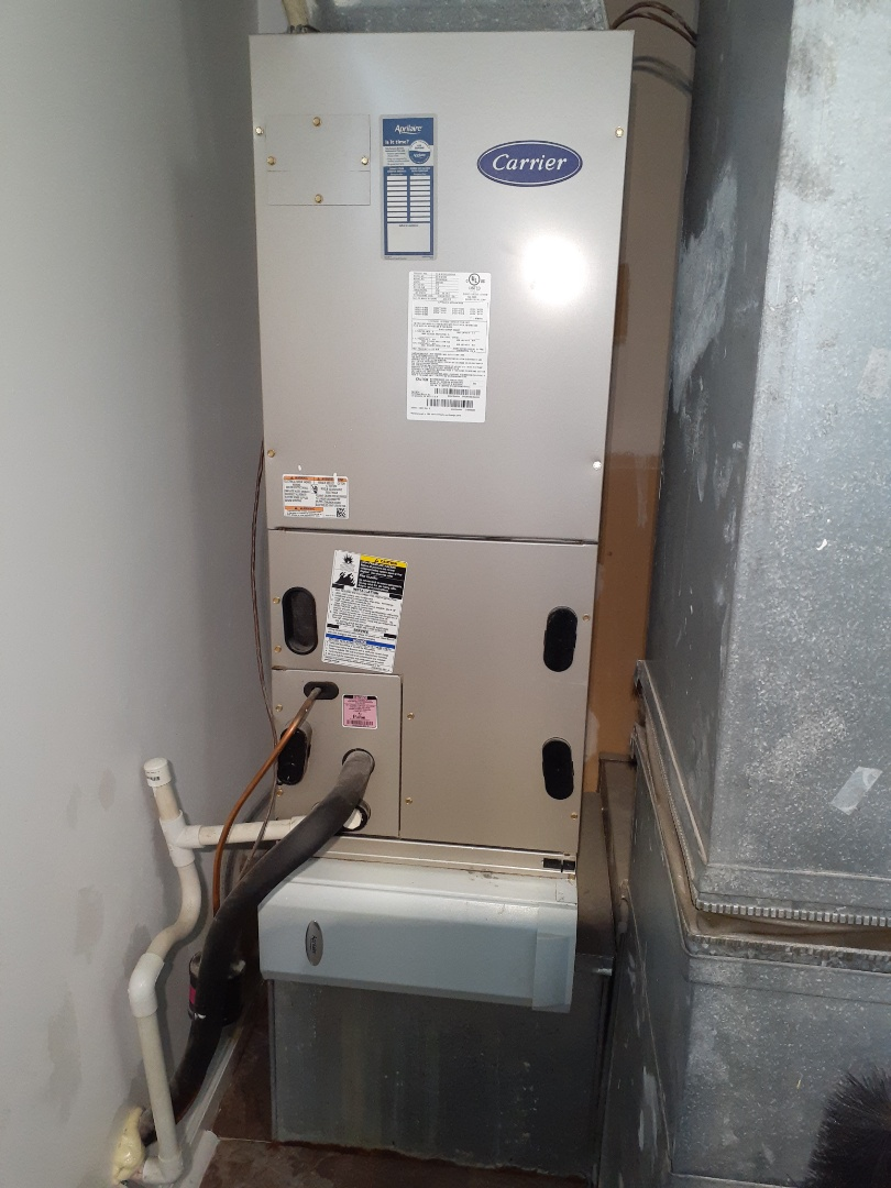 Fairless Hills, PA - Performed heat pump tune up on Carrier heat pump unit in Fairless Hills PA