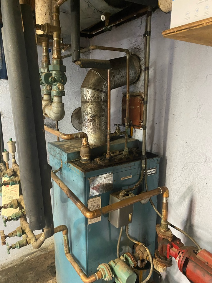 Langhorne, PA - Performed level 2 oil boiler cleaning for soot packed boiler blowing black smoke. Performed tuneup cleaned up mess and made sure unit is operating properly