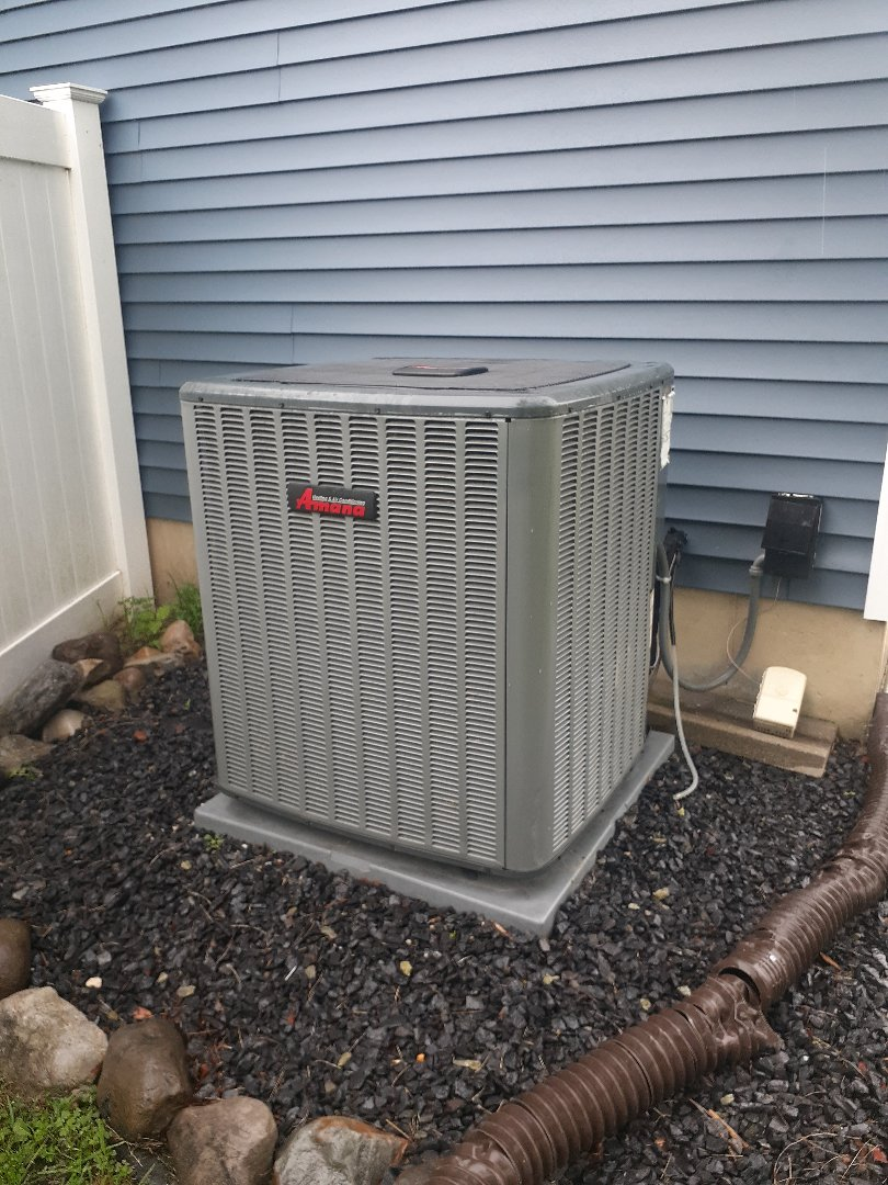 Langhorne, PA - Check operation on Amana air conditioning unit in Langhorne PA found bad capacitor replace the capacitor checked operation system is operational at this time